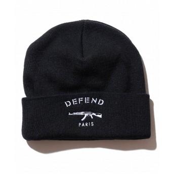 SHIFFON DEFEND PARIS(ディフェンド パリス) PARIS BONNET ニットキャップ/ビーニー メンズ ブラック FREE 【SHIFFON】