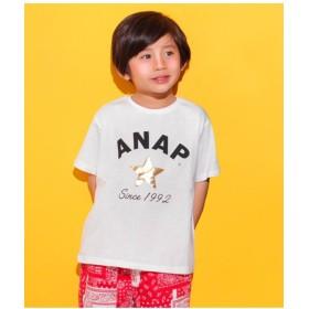 【50%OFF】 アナップキッズ スターロゴプリント ビックTシャツ レディース ホワイト 110 【ANAP KIDS】 【セール開催中】