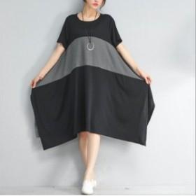 マキシワンピースレディース ドレス ロング丈 30代 ゆったり 20代 フレア 4代 太い ワンピース 体型カバー レディース 大きいサイズ