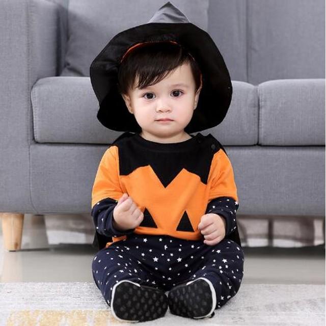 2c19e0a2707358 ハロウィン 仮装 子供ベビー服 コスプレ ベビーコスチューム 着ぐるみ ベビー ハロウィン 衣装 かぼちゃ お誕生日会