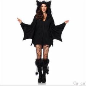 ハロウィン コウモリ 吸血鬼 衣装仮装 ハロウィン 仮装 ハロウィン衣装 コスプレ 大人 ハロウィーン コスチューム ヴァンパイア 悪魔 レ