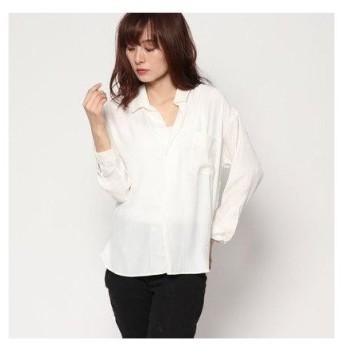 ドレスキップ DRESKIP スキッパーカラーシャツ (オフホワイト)