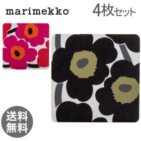 【あすつく】 マリメッコ Marimekko ウニッコ コースター 4枚セット プライウッド 065080 UNIKKO COASTERS 花柄 おしゃれ かわいい 北欧 北欧雑貨【5%還元】