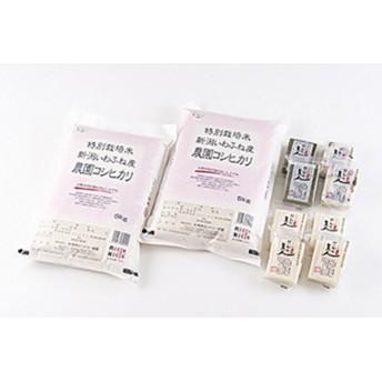 特別栽培米岩船産コシヒカリ10kg・杵つき餅セット