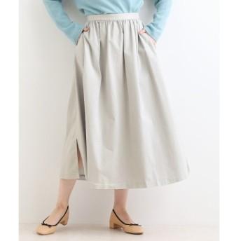 NIMES / ニーム マイクロピーチストレッチツイル  ギャザースカート