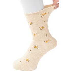 ケアファッション:足首ゆったり名前の書ける柄ソックス(婦人) ベージュ 22〜24cm 1850-11