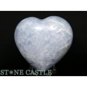 ☆置石一点物☆【天然石 置き石】ハート型 ブルーカルサイト No.38