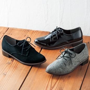 【格安-女性靴】レディースオックスフォードカジュアルシューズ