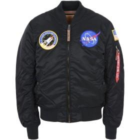 《セール開催中》ALPHA INDUSTRIES メンズ ブルゾン ブラック M ナイロン 100% MA-1 VF NASA