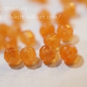 天然石Agate多面カットオレンジ(OR) 約3 3.5ミリ 60粒