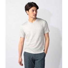 【オンワード】 JOSEPH ABBOUD(ジョセフ アブード) リネンTOPコードレーン Tシャツ ライトグレー L メンズ 【送料無料】