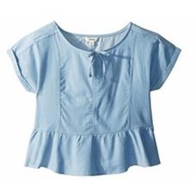 マディジーグラー ブラウス シャツ キッズ 女の子【Maddie by Maddie Ziegler Chambray Short Sleeve Top with Ru