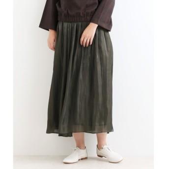 NIMES / ニーム サテンエアフロー ギャザースカート