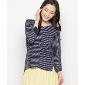 smart pink / スマート ピンク 【洗える】サンドストライプシャツ
