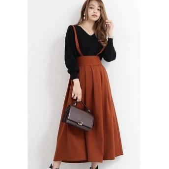 N.Natural Beauty Basic / エヌ ナチュラルビューティーベーシック サスペンダー付ロングスカート