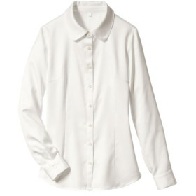 パウダーサテンシャツ(抗菌防臭加工)(リボンタイ。フリルタイ付) women's suits