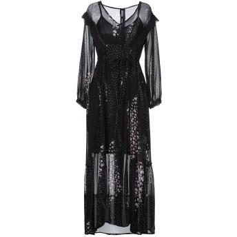 《セール開催中》I BLUES レディース 7分丈ワンピース・ドレス ブラック 40 レーヨン 100% / ポリエステル