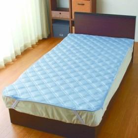 メリーナイト 敷パッド冷感プレミアム&ドライニット SP181021-76 ブルー 1000x2050mm