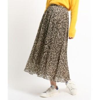 DRESSTERIOR / ドレステリア レオパードプリント ランダムプリーツスカート