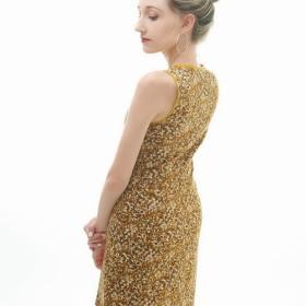 シーズンクリア30%! [グレーシーグレイス]クラシックノースリーブドレス[エレガンスシリーズ]-秋の暖かい黄色