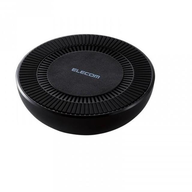 冷却ファン搭載Qi規格対応ワイヤレス充電器 最大出力10W ブラック