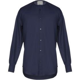 《期間限定 セール開催中》CORELATE メンズ シャツ ダークブルー M コットン 100%