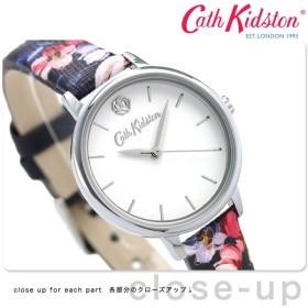 キャスキッドソン Cath Kidston レディース 腕時計 花柄 革ベルト CKL064U ホワイト×ネイビー