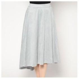 ドレスキップ DRESKIP フィッシュテールスウェードスカート (ブルー)