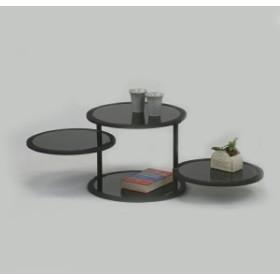 ラウンドテーブル ブラック SND85407(送料無料)(テーブル、ラウンドテーブル、サイドテーブ