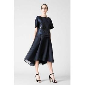 ADORE / アドーア 《BLACK LABEL》ドライシルク&オーガンアシメトリーフレアースカート