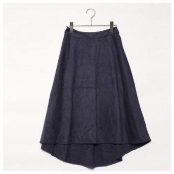 ドレスキップ DRESKIP フィッシュテールスウェードスカート (ネイビー)