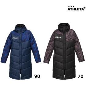 アスレタ ATHLETA ジュニアベンチコート 04123J サッカー フットサルウェア ジュニアコート 移動用 中綿 2018年秋冬モデル