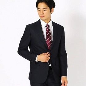 <COMME CA ISM (メンズ)> 《セットアップ》ブライトステッチストライプ スーツジャケット(4702GI03) ネイビー 【三越・伊勢丹/公式】