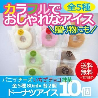 お中元 御中元 アイス ice アイスクリーム ギフト gift 送料無料 ドーナツアイス10個セット 冷凍便