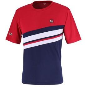 フィラ(FILA) メンズ テニス ゲームシャツ フィラレッド VM5388 11 テニスウェア スポーツウェア トレーニングウェア 半袖 トップス