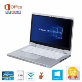 MS Office 2016/Windows 10/タッチパネル Panasonic CF-MX3 /第四世代Core i5/ 8GB/SSD 256GB/12.5インチ/USB3.0/中古ノートパソコン