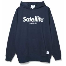 サテライト(Satellite)ビックロゴ ブラッシュド フーディー STBKHN3260 (Men's)