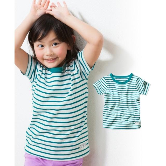 綿100%先染ボーダー半袖Tシャツ(男の子。女の子 子供服。ジュニア服) Tシャツ・カットソー