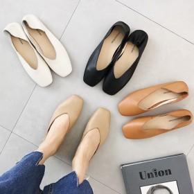 5772 牛革 フラット ローファー 秋シューズ 女性シューズ 快適な靴 コムポトゥ