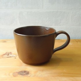 ヴィンテージ風マグカップ ダークブラウン
