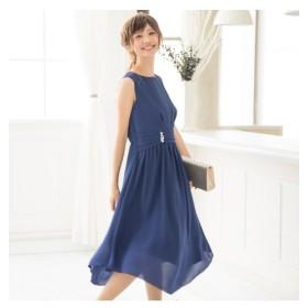 新色追加。大人っぽいデザイン♪ウエストタックロングワンピースドレス【結婚式。二次会。お呼ばれ対応】 【謝恩会・パーティドレス】,Dress