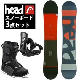 2018-19冬新作 head ヘッド スノーボード メンズ 3点セット 板 ボード バインディング ブーツ ABILITY FLOCKA M 150 154 158 スノボ 国内正規代理店品 送料無料