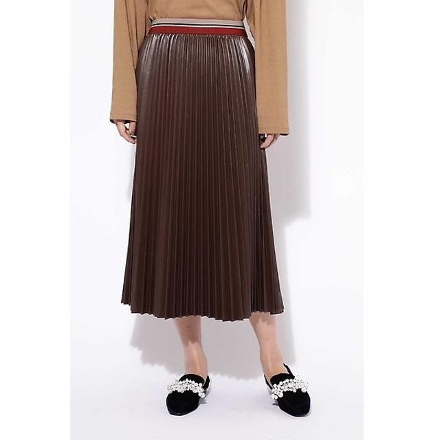ROSE BUD / ローズ バッド 合皮プリーツスカート