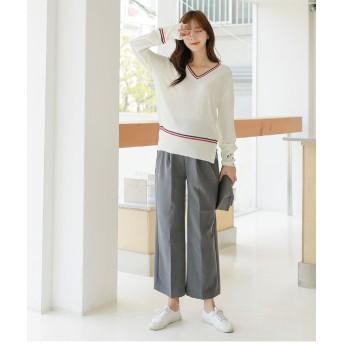 マタニティーパンツ - ETTE マタニティ パンツ スラックス ワイド オフィス マタニティワイドスラックスパンツ/SBP83001 マタニティー ママ 妊婦 韓国韓国ファッション 大きいサイズ