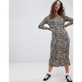 デイジーストリート レディース ワンピース トップス Daisy Street midaxi smock dress in leopard print
