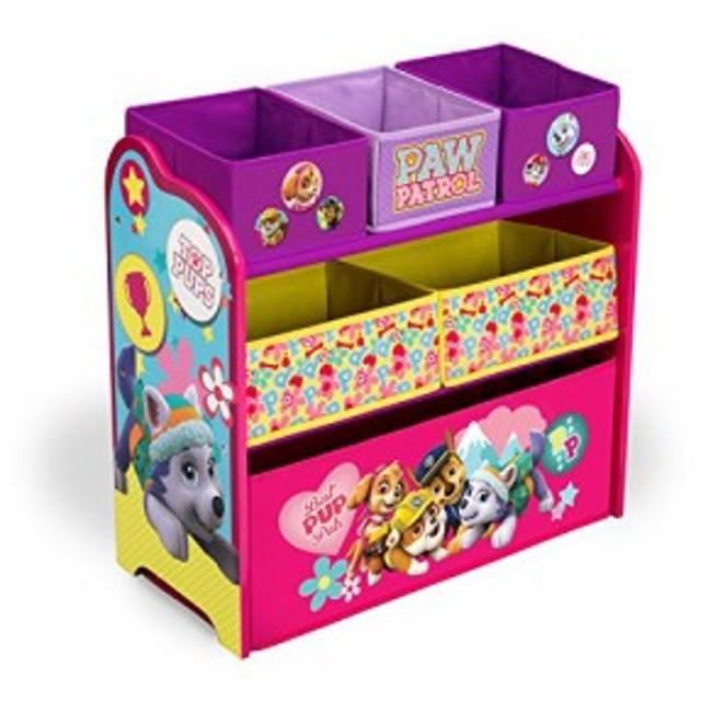 スポンジボブDelta Children Multi-Bin Toy Organizer, Nick Jr. PAW Patrol - Skye & Everest