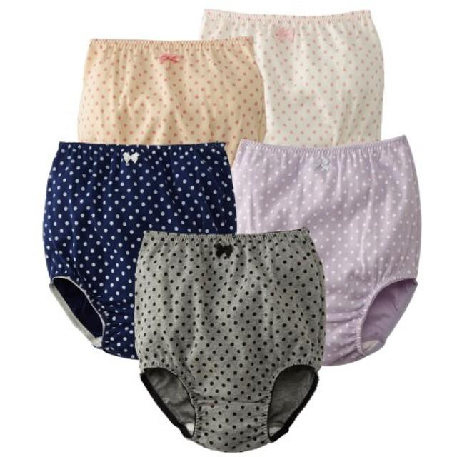 綿100%お腹すっぽりショーツ5枚組(女の子 子供服。ジュニア服) (キッズ下着)