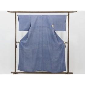 【中古】リサイクル小紋 / 正絹紺地袷鮫小紋着物(古着 中古 小紋 リサイクル品)