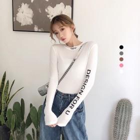 韓国ファッションシンプルで合わせやすい無地カットソー カットソー クルーネック ロングTシャツ ロンT tシャツ 大きいサイズ レディース 無地カットソー 長袖tシャツ 長袖カットソー