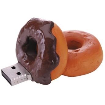 グリーンハウス GH-UFD2GF-DC USB2.0/1.1対応フラッシュメモリ ドーナツ型 2GB チョコレート